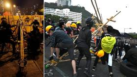 Catapulting Hong Kong into democracy? Media glorifies ANARCHY & 'novel, defensive' anti-police weapons of protesters