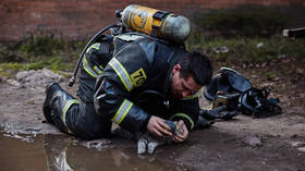 No-one left behind: Firefighter gives oxygen to CAT to bring it back from BRINK OF DEATH after smoke poisoning