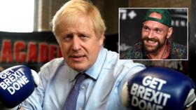 'Raging Bullsh*t!' Boris Johnson battered online for 'Brexit' boxing session at Tyson Fury's gym