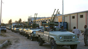 E. Libyan forces' airstrikes target munitions depot in Misrata