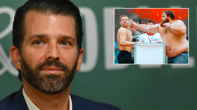 'Sums it up perfectly!' Donald Trump Jr uses 'Russian Slapping Champion' to mock Democrats & impeachment inquiry into his dad