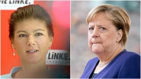 Merkel slips from top spot as Left Party bigwig Sahra Wagenknecht becomes Germany's most loved politician, poll reveals