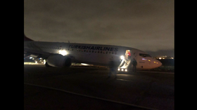 Boeing 737 skids off runway & lands NOSE-DOWN at Odessa airport, passengers evacuated (VIDEO)