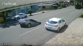WATCH: Sinkhole in Brazil swallows mother and daughter as they drive behind truck