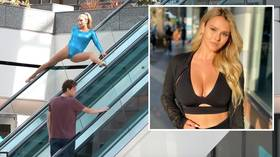 'She has got MOVES!' Instagram bombshell Kinsey Wolanski turns heads with impromptu gymnastic routines in public places (VIDEO)
