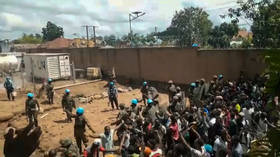 Protesters attack UN peacekeepers, torch mayor's office over inaction after deadly militant attack in Congo (VIDEOS, PHOTOS)
