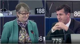 Brexit Party MEP left red-faced after asking Green colleague & professor of economics...for some economic credentials (VIDEO)