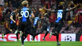 Double trouble: TWO sent off for celebrating as Club Brugge claim last-gasp Champions League draw at Galatasaray (VIDEO)