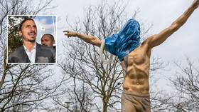 'He's a piece of sh*t': Zlatan statue defaced with TOILET SEAT in Sweden after he becomes co-owner of rival club