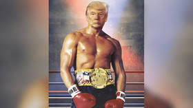 Trump tweets picture of his head on Rocky Balboa's body, internet explodes in speculation