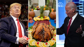 America's presidential candidates hide the knives to deliver Thanksgiving messages