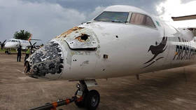'Dropped like a stone': Plane miraculously lands with its NOSE TORN OFF after being hit by LIGHTNING & HAIL in Zambia (PHOTOS)
