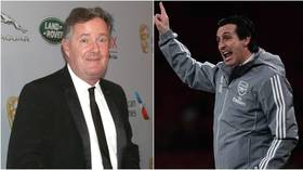 Die-hard Arsenal fan Piers Morgan ridiculed after endorsement of sacked Emery comes back to haunt him (VIDEO)