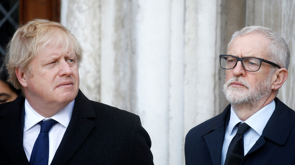 Who's the bigger Russian agent, Boris Johnson or Jeremy Corbyn? Depends who (and when) you ask!