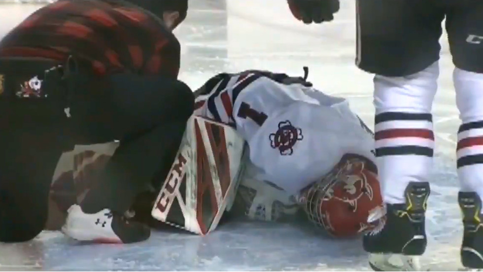 Goaltender suffers HORRIFIC injury during Canadian junior hockey league game