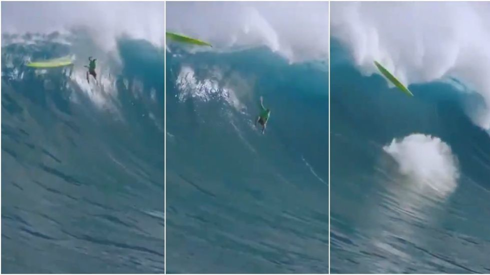 WATCH: Surfer suffers terrifying wipeout at Jaws Big Wave Championships in Hawaii