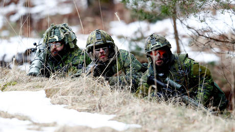 Canadian army soldiers attend the NATO enhanced Forward Presence battle group military drill Integrated Capstone Exercise 2019/1 in Adazi, Latvia February 26, 2019. © REUTERS/Ints Kalnins