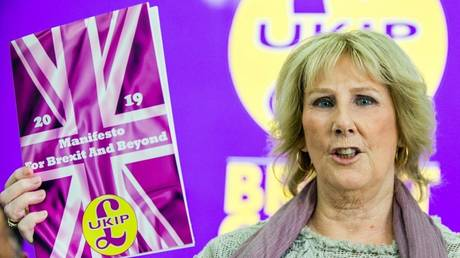 'Car crash interview': UKIP interim leader ridiculed online after calling her own party 'RACIST' on TV