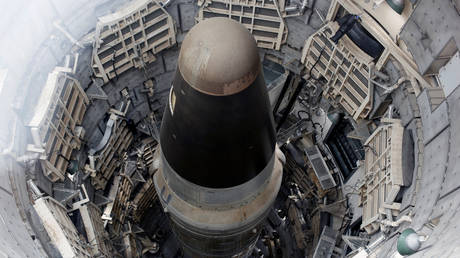 FILE PHOTO: A Titan Missile shown from above at the Titan II Intercontinental Ballistic Missile (ICBM) site in Arizona, decommissioned in 1982.