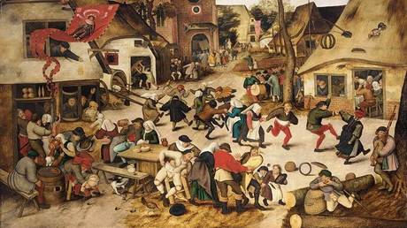 'The Kermesse of St George' by Pieter Brueghel the Younger, 1628