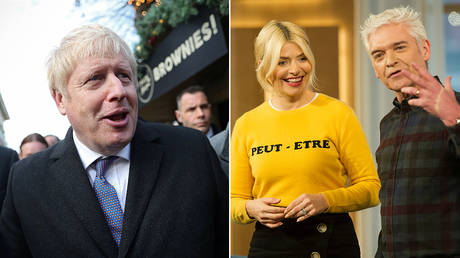 (L) PM Boris Johnson © Reuters / Hannah McKay / Pool; (R) This Morning presenters Holly Willoughby and Phillip Schofield © Global Look Press / I-Images