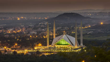 Faisal Mosque in Islamabad, Pakistan