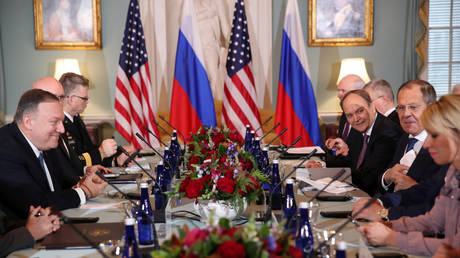 US Secretary of State Mike Pompeo and Russia's FM Sergey Lavrov hold talks at the State Department in Washington, US on December 10, 2019.