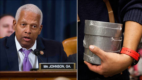 FILE PHOTO: (L) Congressman Hank Johnson (D-Georgia) © Reuters / Doug Mills; (R) © AFP / Getty Images North America / Andrew Burton