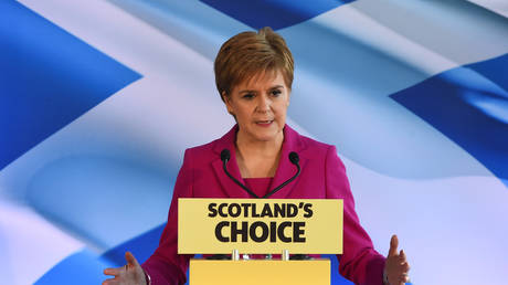 Scottish National Party (SNP) leader and Scotland's First Minister Nicola Sturgeon speaks in Edinburgh on December 13, 2019.