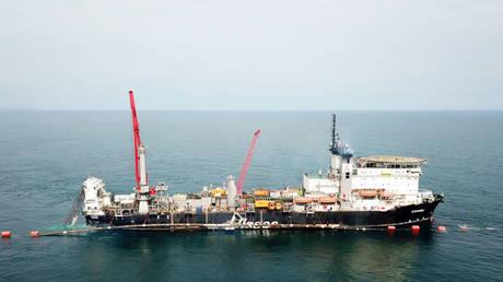 FILE PHOTO: The TurkStream gas pipeline © Gazprom