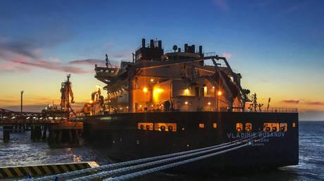 Russia's Vladimir Rusanov LNG tanker ship