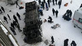 19 killed, 21 injured in Russia after commuter bus plummets from bridge into frozen river (PHOTOS, VIDEO)