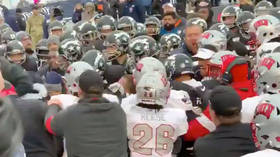 Duel in the desert! UNLV and Nevada engage in wild brawl on the field during heated college football clash (VIDEO)