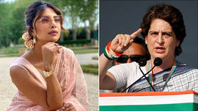 'Some fan indeed': Indian official chants Priyanka Chopra's name, confusing her with politician Priyanka Gandhi at rally (VIDEO)