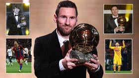 The joy of six: A look back at ALL of Lionel Messi's Ballon d'Or triumphs as Barcelona star scoops record SIXTH accolade in Paris