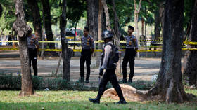 2 injured after blast rocks downtown Jakarta near presidential palace