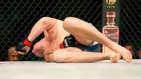 'Came out of retirement for this?' Giant UFC heavyweight Stefan Struve's comeback marred by TWO low blows, loses by TKO