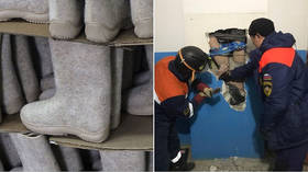 Siberian man falls 9 stories head-first down VENT SHAFT & survives thanks to FELT BOOTS he dropped there earlier
