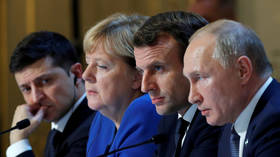 Normandy Four agree to 'stabilize' eastern Ukraine in Paris communique (VIDEO)