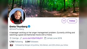 Greta Thunberg responds to Trump's advice to 'chill out' with Twitter bio change again