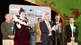 'No bigger pantomime than Westminster': Dame Belladonna earns more votes than UKIP rival