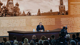 Putin takes questions from the media in annual year-end press conference