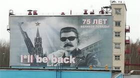 Stalinator will be back: Soviet dictator posing as iconic Schwarzenegger character winks at climate-saving plant
