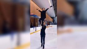 Switching over to pairs skating? Olympic champion Alina Zagitova learns new elements during career break (VIDEO)