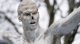 Hold your nose! Zlatan Ibrahimovic's bronze statue vandalized again in Sweden