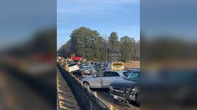 Fog and ice cause 63-car pileup on Virginia highway injuring 30+ people and hampering Christmas traffic (PHOTOS)