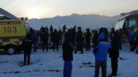 WATCH 1st VIDEOS from passenger jet crash site in Almaty, Kazakhstan