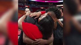 Miami Heat guard Chris Silva bursts into tears after surprise reunion with mother for first time in three years (VIDEO)