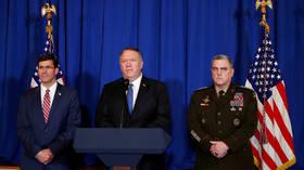 'Strikes successful, other options discussed': Esper & Pompeo brief Trump on 'anti-Iran' raids in Iraq & Syria