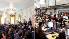 Cubicle 2020? Internet field day after Mike Bloomberg promises 'open office plan' for White House East Room if he wins presidency